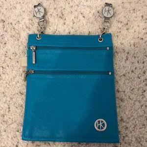 Clip on blue purse